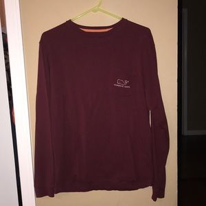 Maroon Vineyard Vines Shirt, Small